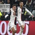 Paulo Dybala, Cristiano Ronaldo lors du match de la juventus de Turin contre Parme Calcio à Turin le 19 janvier 2020.