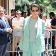 """Evangeline Lilly est allée faire la promotion de son nouveau film """"Ant-Man & The Wasp"""" dans l'émission """"The View"""" à New York. Le 20 juin 2018."""