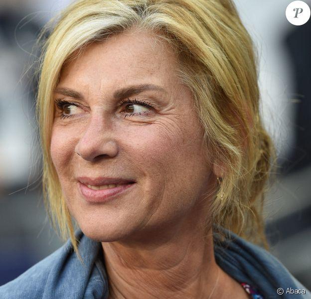 Michèle Laroque au Stade de France. Saint-Denis. Le 8 mai 2018. @Christian Liewig/ABACAPRESS.COM