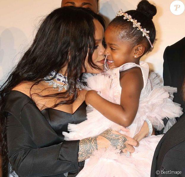 """Rihanna et sa nièce Majesty - Soirée de la 3ème édition du """"Diamond Ball """" en faveur de l'association de Rihanna """"Clara Lionel Foundation"""" au Cipriani Wall Street à New York, le 14 septembre 2017."""