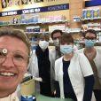 Alexandra Lamy adresse un message de remerciements aux commençants ouverts pendant la pandémie de coronavirus. Le 2 avril 2020.