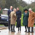 Le prince William, Kate Middleton, Camilla Parker-Bowles et le prince Charles au Defence Medical Rehabilitation Centre Stanford Hall, le 11 février 2020.