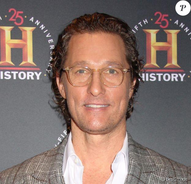"""Matthew McConaughey au photocall de la soirée """"A+E Networks History Talks"""" à New York, le 29 février 2020."""
