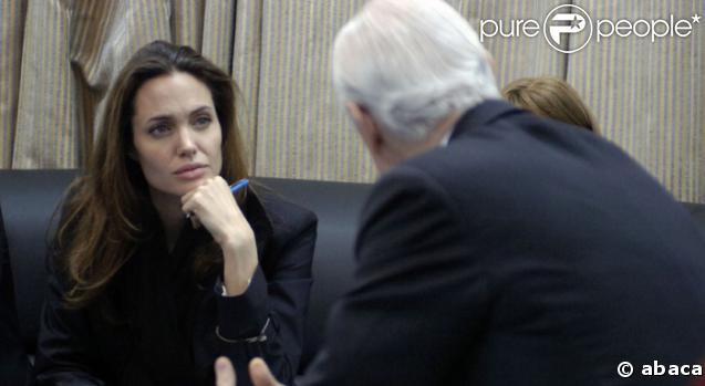 Angelina Jolie à Bagdad le 7/02/08