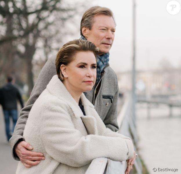 Le grand-duc Henri de Luxembourg et la grande-duchesse Maria Teresa de Luxembourg à Genève en Suisse le 26 janvier 2020.
