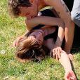 Alexandra Rosenfeld, sa séance de yoga interrompue par Hugo Clément, le 14 avril 2020