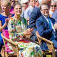 La princesse Victoria de Suède et le prince Daniel lors de la fête nationale dans le parc du palais Haga à Stockholm le 6 juin 2019.