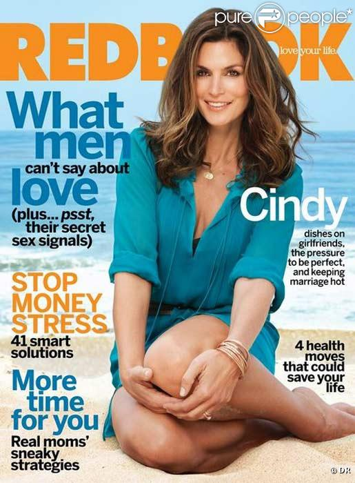 Cindy Crawford en couverture de Redbook