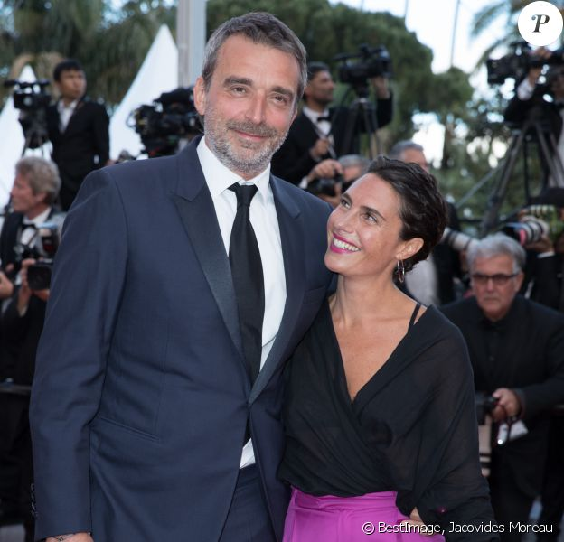 "Alessandra Sublet et son ex-mari Clément Miserez - Montée des marches du film "" Le Grand Bain "" lors du 71ème Festival International du Film de Cannes. Le 13 mai 2018 © Borde-Jacovides-Moreau/Bestimage"