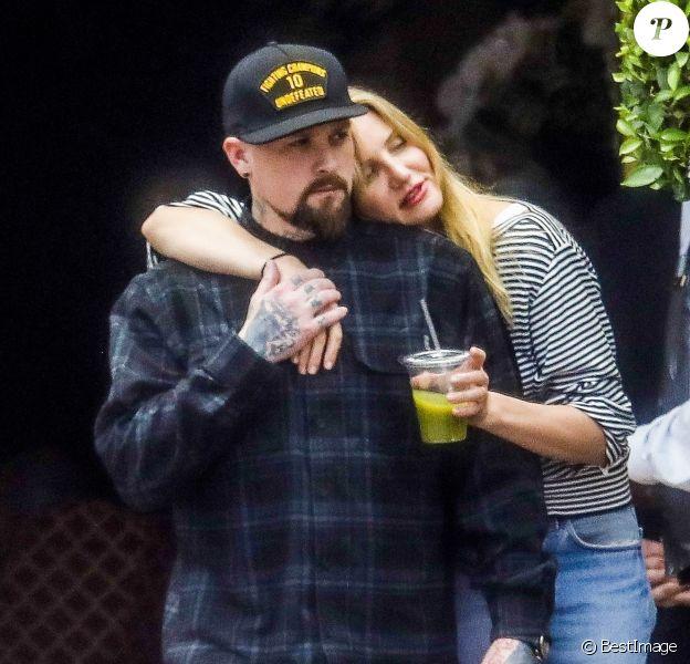 Exclusif - Cameron Diaz et son mari Benji Madden sortent d'un déjeuner en amoureux au Bouchon à Beverly Hills le 5 juin 2017.