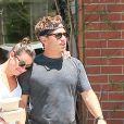 Exclusif - Lea Michele et son mari Zandy Reich sont allés déjeuner au Cafe Gratitude à Venice Beach. Les amoureux se sont assis en terrasse à l'abri du bruit et des regards, le 20 juillet 2019