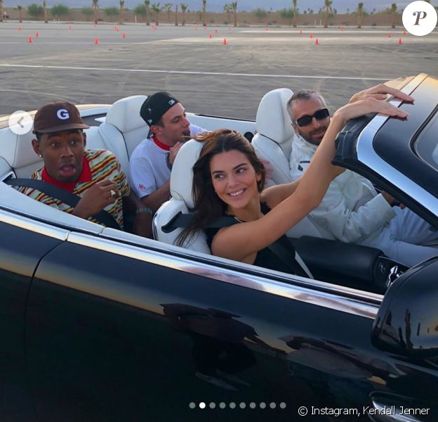 Kendall Jenner en voiture avec Tyler, The Creator. Novembre 2019.