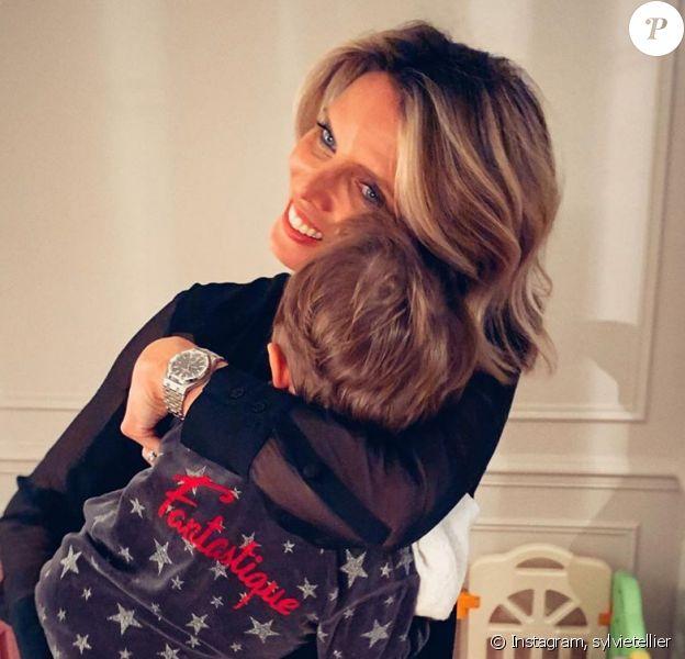 Sylvie Tellier avec son fils Roméo, le 21 janvier 2020