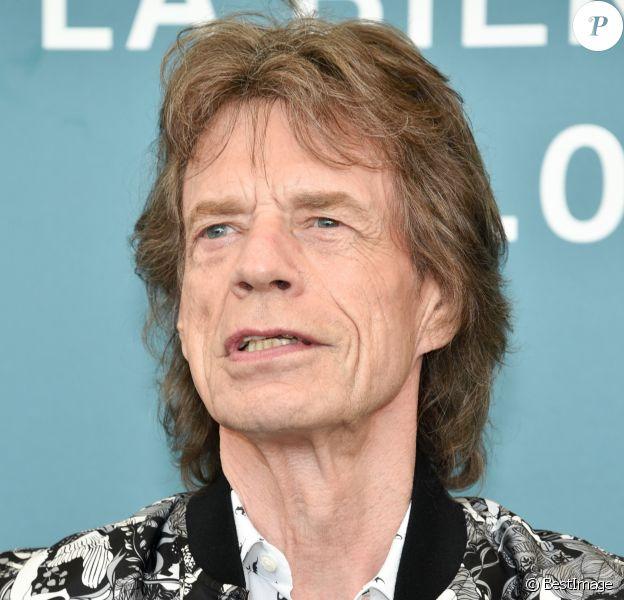 """Mick Jagger au photocall de """"The Burnt Orange Heresy"""" au 76ème Festival International du Film de Venise (Mostra), le 7 septembre 2019."""
