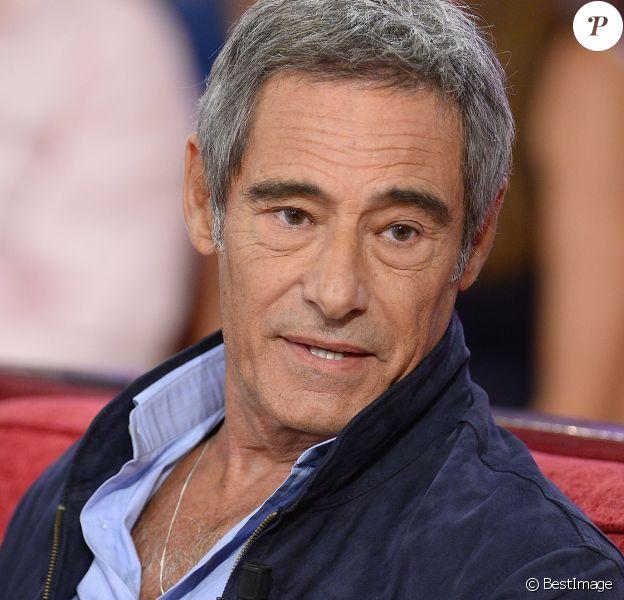 """Gérard Lanvin - Enregistrement de l'émission """"Vivement Dimanche"""" à Paris le 9 Septembre 2015."""