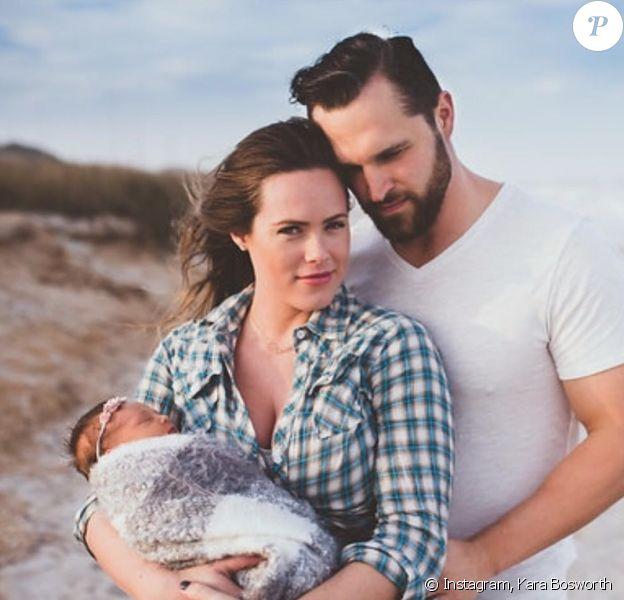 Kara Bosworth, son mari Kyle Bosworth et leur fille aînée Decker. Mars 2016.