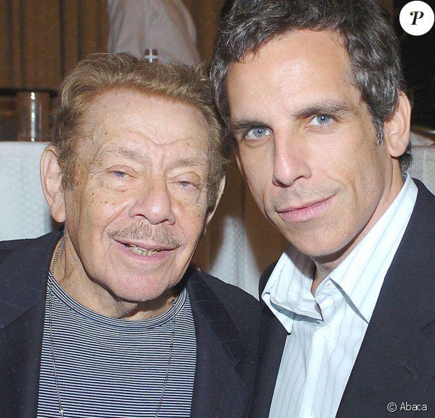 Jerry et Ben Stiller lors d'une soirée à New York le 15 octobre 2004. Photo by Steve Connolly/Startraks/ABACA