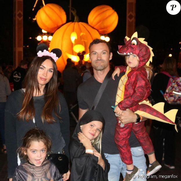 Brian Austin Green et Megan Fox avec leurs trois enfants sur Instagram, le 19 octobre 2019.