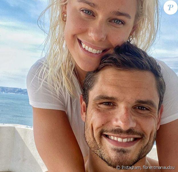 Florent Manaudou a partagé cette photo de lui avec sa chérie Pernille, sur Instagram, le 17 mars 2020.