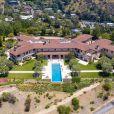 Vue aérienne de la maison de l'acteur et producteur Tyler Perry, le 7 mai 2020 dans un quartier protégé de Beverly Hills à Los Angeles, que Meghan Markle et le prince Harry occupent en son absence.