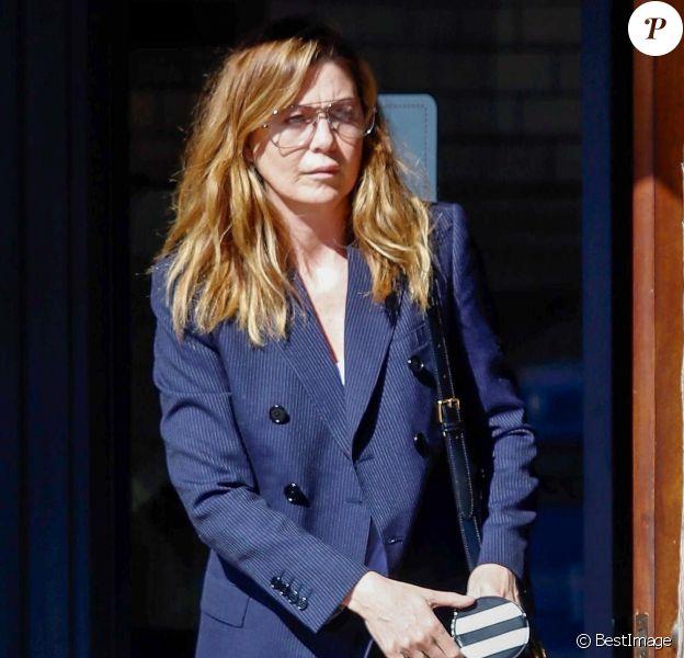 Exclusif - Ellen Pompeo est allée acheter des glaces chez McConnell dans le quartier de Studio City à Los Angeles, le 7 février 2020.
