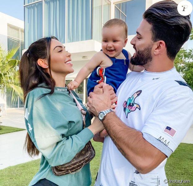 Nabilla, Thomas et Milann le 22 mai 2020 sur Instagram.
