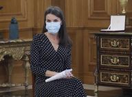 Letizia d'Espagne masquée : elle s'illustre dans une robe recyclée