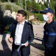 Christian Estrosi, le maire de Nice, a pris la décision d'interdire le sentier du littoral dès 20 heures, le 5 juin 2020. © Bruno Bebert/Bestimage