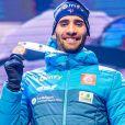 Martin Fourcade champion du monde du 20km individuel messieurs aux Championnats du monde de Biathlon 2020 à Antholz Anterselva, le 19 février 2020. © Imago / Panoramic / Bestimage