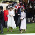 Le prince Edward, comte de Wessex, Meghan Markle, duchesse de Sussex, et le prince Harry, duc de Sussex, et la comtesse Sophie de Wessex - La famille royale d'Angleterre à son arrivée à Ascot pour les courses hippiques. Le 19 juin 2018
