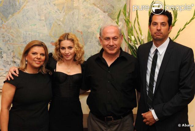 Photo officielle du dîner de Madonna avec son toy boy et Benyamin Netanyahou et son épouse vendredi soir
