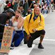 Jeremy Meeks participe à une manifestation contre les violences policières et le racisme, en soutien au mouvement Black Lives Matter. Beverly Hills, le 1er juin 2020.