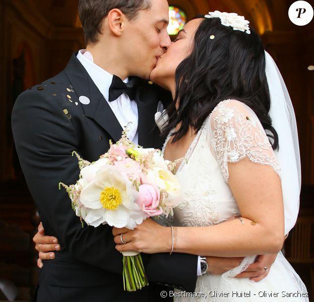Exclusif - Mariage religieux en l'église de Villanova d' Alizée et Grégoire Lyonnet - Villanova le 18 juin 2016 © Olivier Huitel - Olivier Sanchez / Bestimage