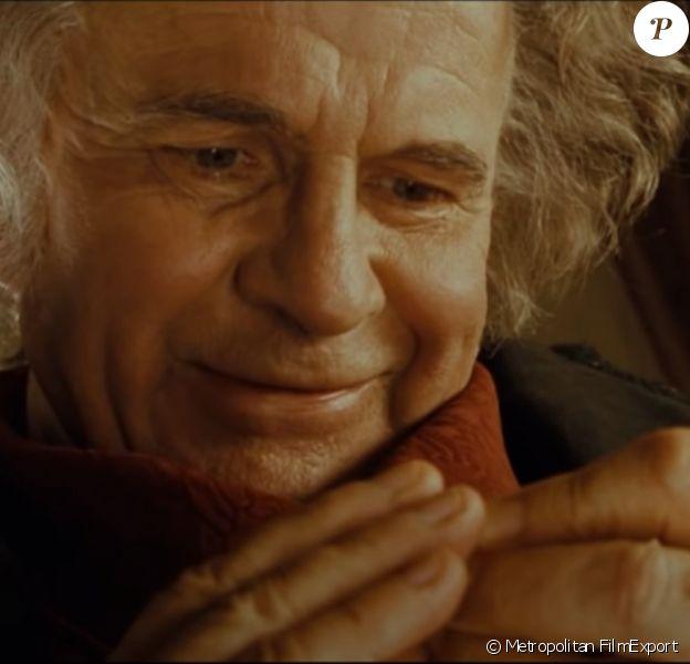 """Ian Holm dans le film """"Le seigneur des anneaux : la communauté de l'anneau"""". 2001."""