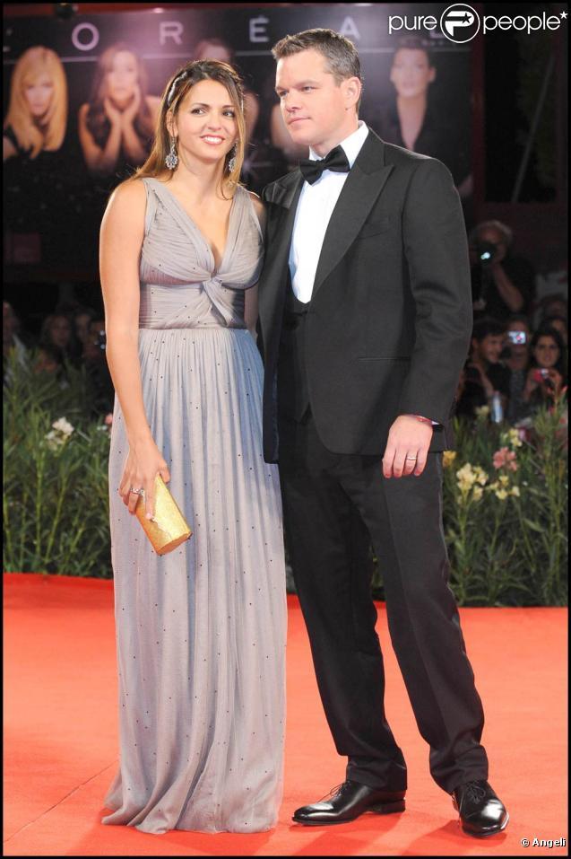 Matt Damon et sa femme Luciana, à l'occasion de la présentation de  The Informant ! , lors de la 66e Mostra de Venise, le 7 septembre 2009 !