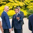 Le président Emmanuel Macron - Conférence de presse du président de la République française et du président de la République de Tunisie dans le jardin du palais de l'Elysée à Paris le 22 juin 2020. © Romain Gaillard / Pool / Bestimage