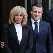 Emmanuel et Brigitte Macron : Tendre étreinte dans le jardin de l'Élysée