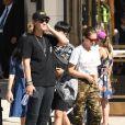 Exclusif - Thylane Blondeau et son compagnon Milane Meritte sont allés déjeuner au restaurant Pastaio à Beverly Hills le 7 septembre 2019.