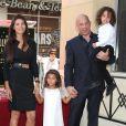 Vin Diesel, sa compagne Paloma Jimenez avec leurs enfants Hania Riley et Vincent - L'acteur Vin Diesel a devoilé son étoile sur le Walk of Fame d'Hollywood. Le 26 août 2013.