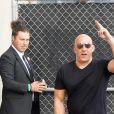 """Vin Diesel arrive à l'émission """"Jimmy Kimmel Live"""" dans le quartier de Hollywood à Los Angeles, le 9 mars 2020."""