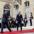 Passation de pouvoir à Matignon entre Edouard Philippe et Jean Castex, nouveau Premier ministre. Paris, le 3 juillet 2020. © Stéphane Lemouton / Bestimage
