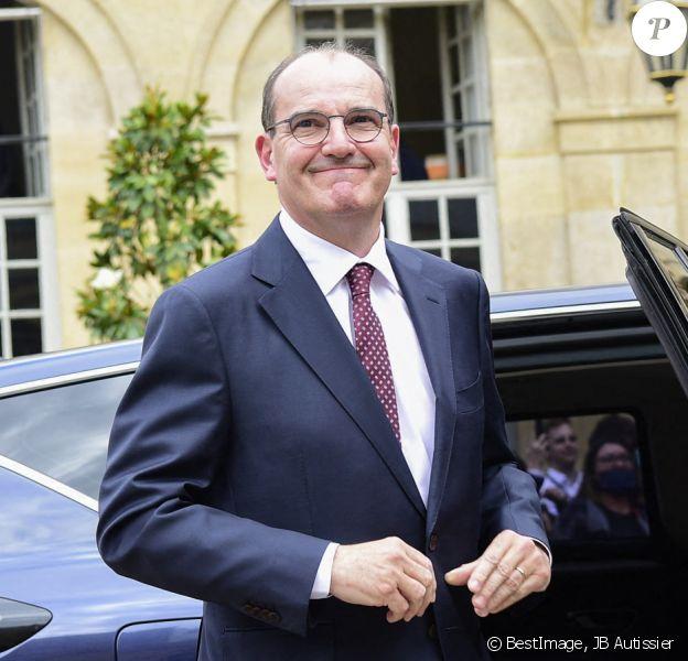 Passation de pouvoir à Matignon entre Edouard Philippe et Jean Castex, nouveau Premier ministre. Paris, le 3 juillet 2020. © JB Autissier / Panoramic / Bestimage