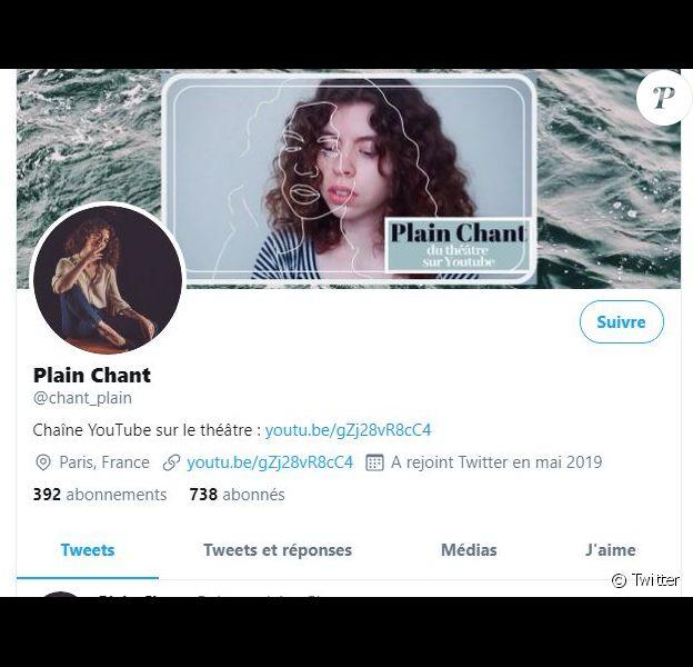 C'est par le biais de son compte Twitter dédié au théâtre, Plain Chant, que Marie Coquille-Chambel a dénoncé fin juin 2020 les violences physiques infligées par un comédien de la Comédie-Française.