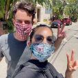 Olivia Munn et B.J. Novak sur Instagram. Le 30 juin 2020.