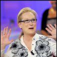 Meryl Streep sur le plateau de Michel Drucker. 09/09/09
