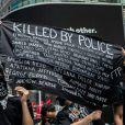 """""""Tués par la police"""" : les manifestants de New York rendent hommage aux victimes de violences policières et du racisme. Le 7 juin 2020."""