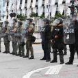"""Manifestation en soutien au mouvement """"Black Lives Matter"""" et contre les violences policières et le racisme. Hollywood, le 7 juin 2020."""