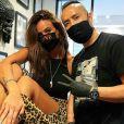 """Jade Lagardère s'est fait faire un nouveau tatouage. Elle a fait inscrire """"always"""" sur sa cheville. Paris, le 17 juillet 2020."""