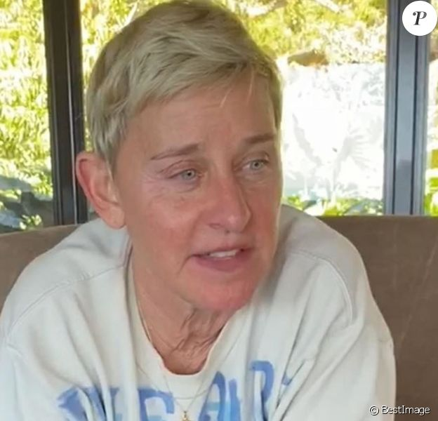 Ellen DeGeneres passe son ennui pendant la mise en quarantaine lors de l'épidémie de coronavirus (Covid-19) en appelant ses amis célèbres: Justin Timberlake, Adam Levine et John Legend. Los Angeles, le 19 mars 2020.