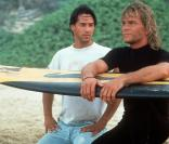 Patrick Swayze avec Keanu Reeves en 1991 pour Point Break